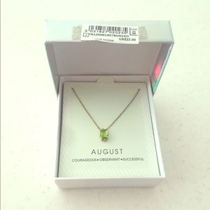 August month green necklace